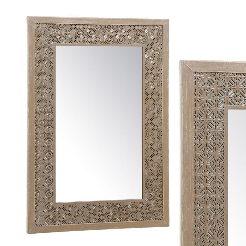 Espejo Madera Troquelado 40x60 cm