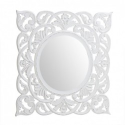 Espejo Pared Cuadrado Blanco 55 cm