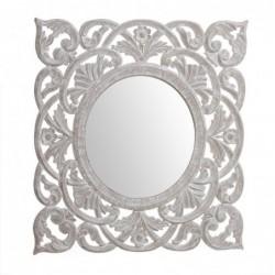 Espejo Pared Cuadrado Natural 55 cm