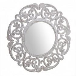 Espejo Pared Cuadrado Natural 60 cm