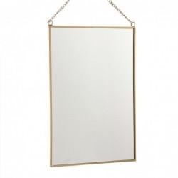 Espejo Rectangular Oro 20x30 cm