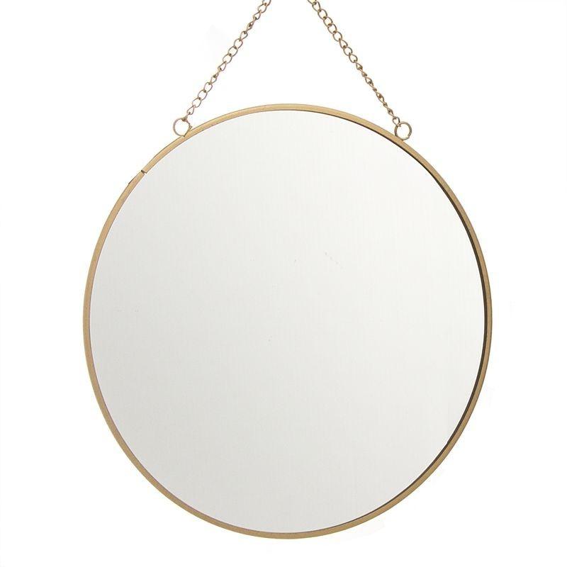 Espejo Redondo Oro 25 cm