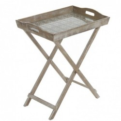 Mesa con Bandeja Base Cristal 51 cm