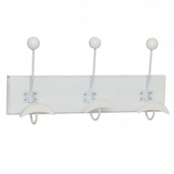 Perchero Triple Blanco 42 cm