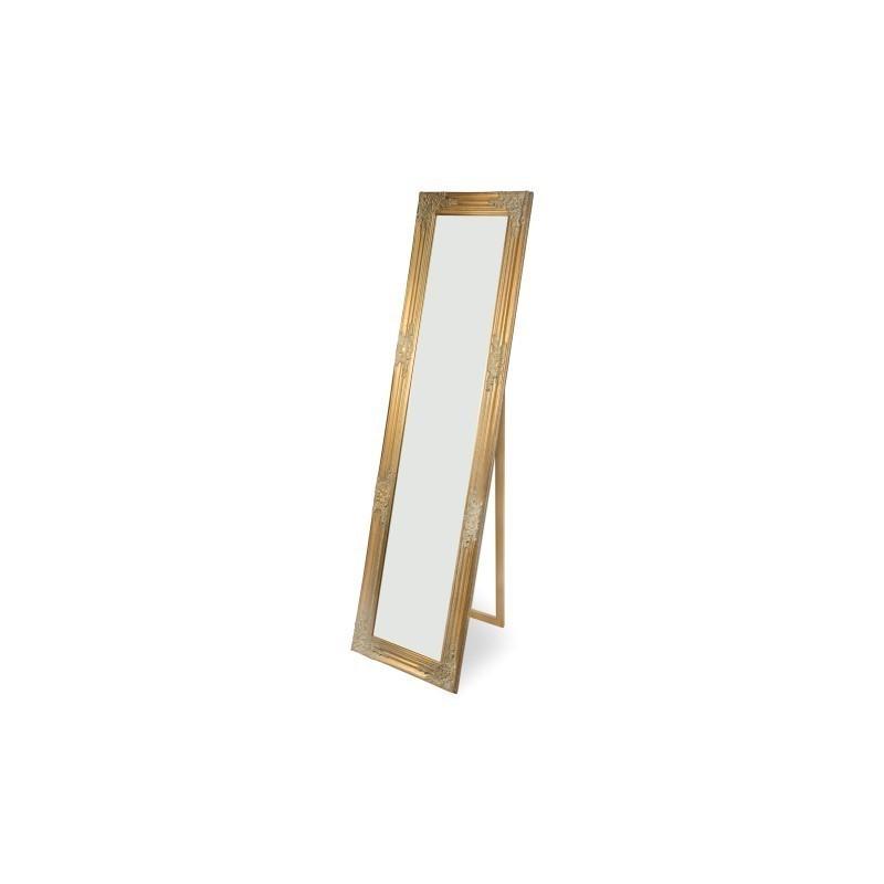 Espejo De Pie Dorado Resina 160x40 cm