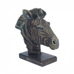 Figura Busto Cebra Resina 29 cm