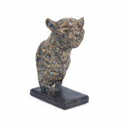 Figura Busto Leopardo Resina 21 cm