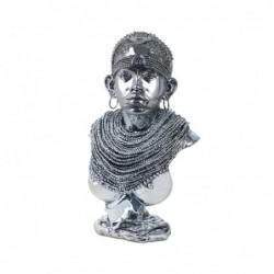 Figura Busto Resina Mujer Africana 28 cm