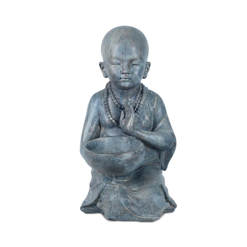Figura Resina Monje Budista 34 cm