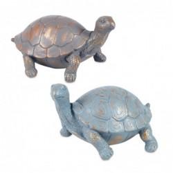Figura Resina x2 Tortugas 14 cm