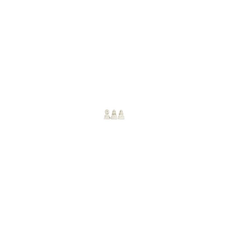 Figura Resina x3 Buda Blanca 20 cm