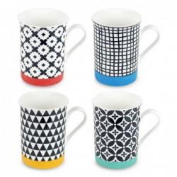 Mug Cafe x4 modelos 10 cm