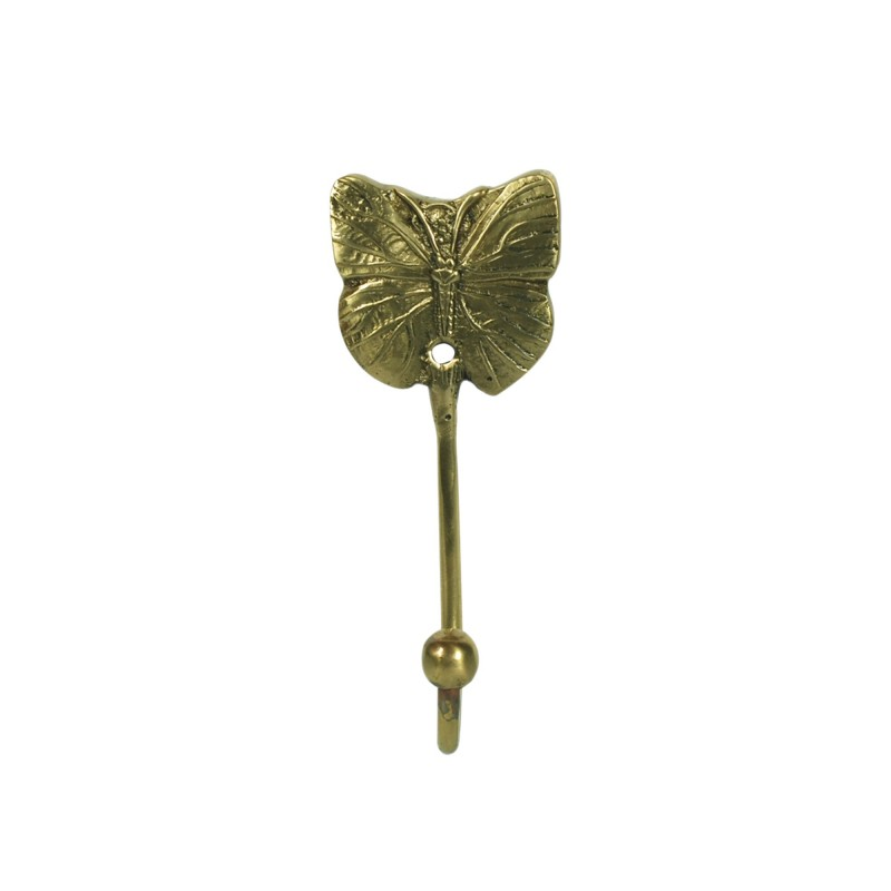 Percha Pared Retro Laton Mariposa 11 cm