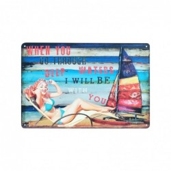 Placa Pared Beach 30 cm