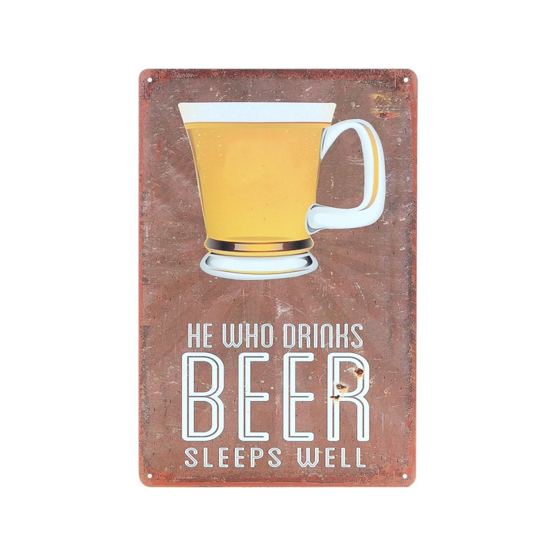 Placa Pared Beer 30 cm
