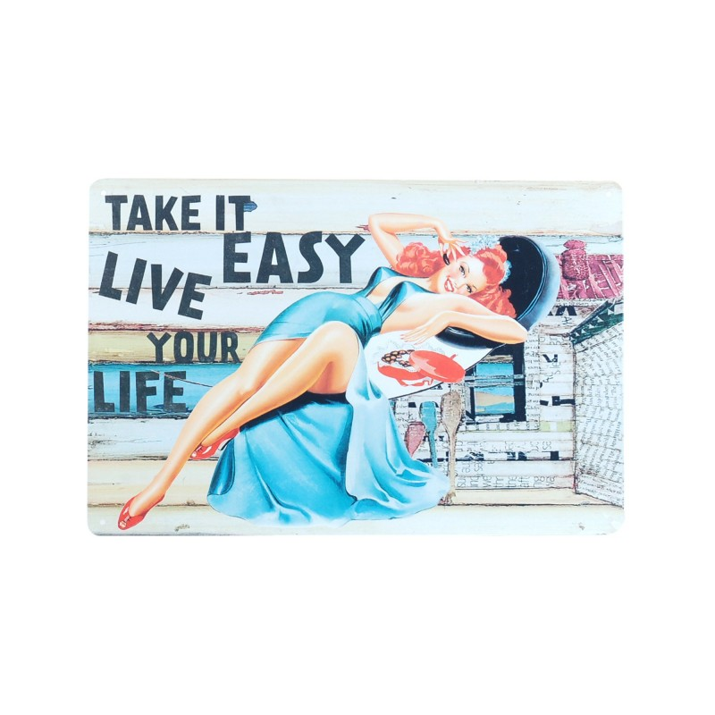 Placa Pared Easy Life 30 cm