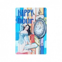 Placa Pared Happy Hour 30 cm