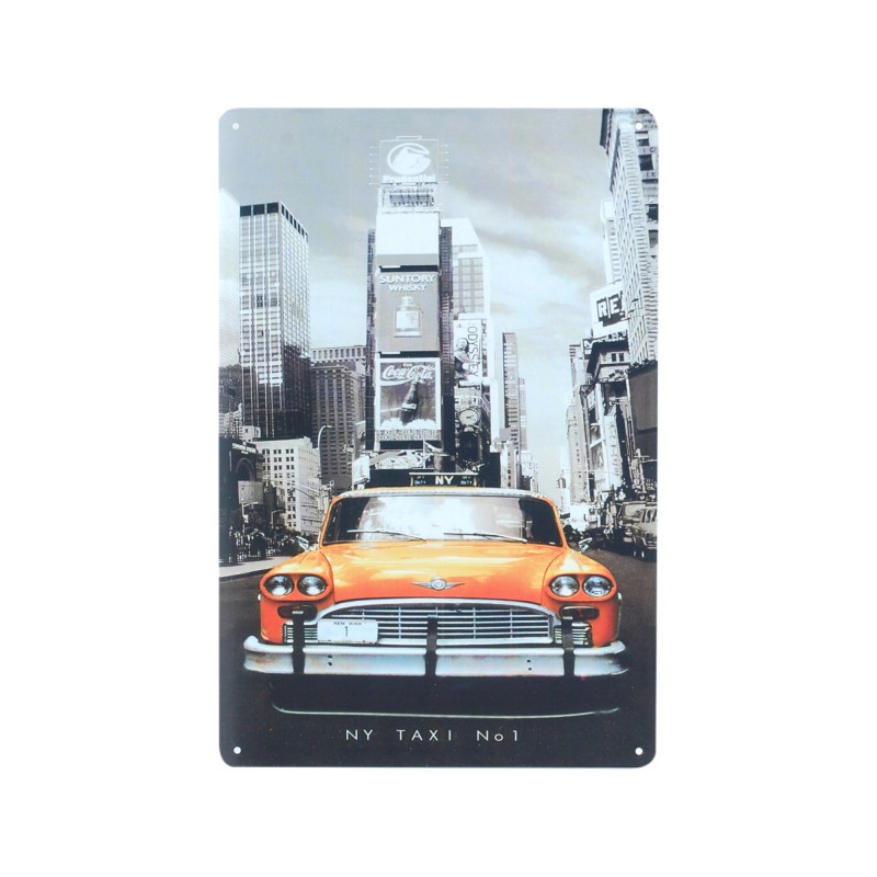 Placa Pared Taxi 30 cm
