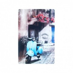 Placa Pared Vespa 30 cm