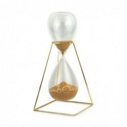 Reloj Arena Dorada Cristal 33 cm