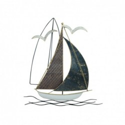 Adorno Pared Barco 40 cm
