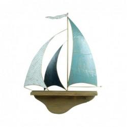 Adorno Pared Barco 66 cm