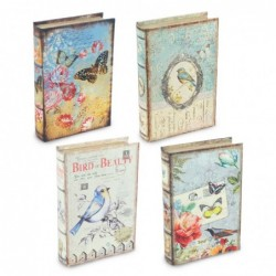 Caja Forma Libro Decorativa x4 Modelos 24 cm