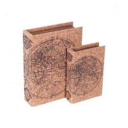 Caja Set 2 Unidades Mapamundi 24 cm