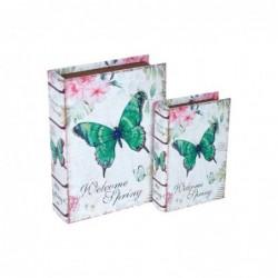 Caja Set 2 Unidades Mariposa 24 cm