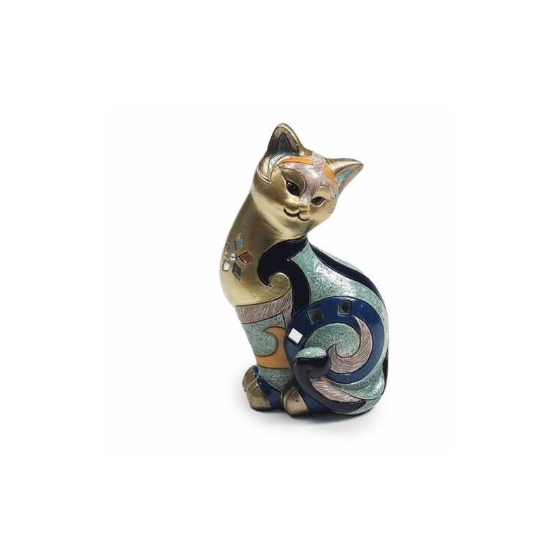 Figura Gato Resina 17 cm