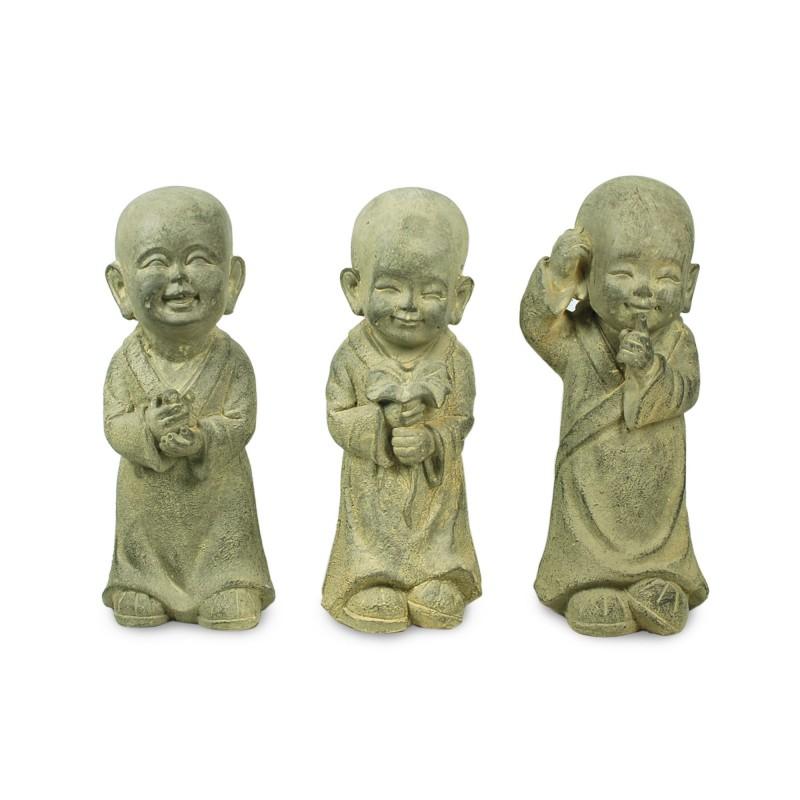 Figura Resina x3 Buda Niño 33 cm
