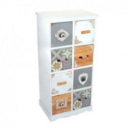 Mueble Cajonero 8 Cajones blanco 100 cm