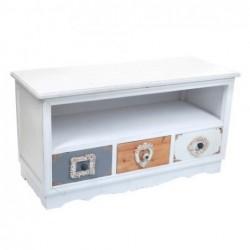 Mueble TV 3 Cajones blanco 105 cm