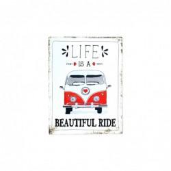 Placa Pared Decorativa Life 33x25 cm