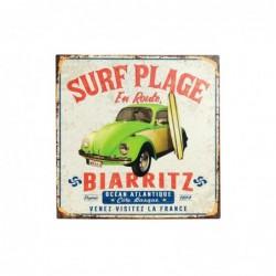 Placa Pared Decorativa Surf 30x30 cm