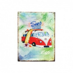 Placa Pared Decorativa Surf 33x25 cm