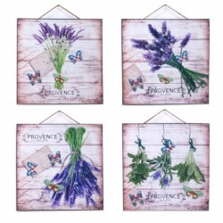 Placa Pared x4 Lavanda 25 cm