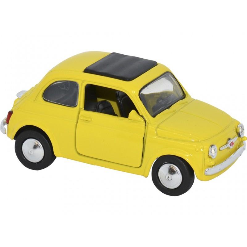 FIAT 500 1965 AMARILLO ESCALA 1:32 L: 9CM