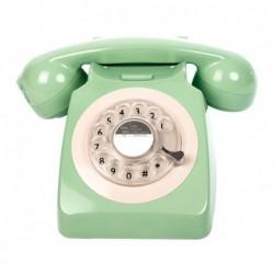 TELEFONO VINTAGE 70s GIRATORIO VERDE 21x16x14cm