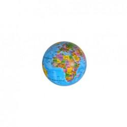 Figura Bola Mundo Giratoria con Luz Led 10 cm