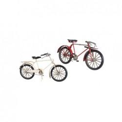 Figura Metalica Bicicleta Vintage Blanca 26 cm
