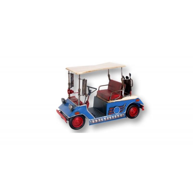 Figura Metalica Carrito Golf 28 cm