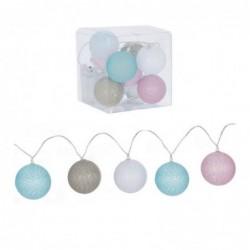Guirnalda 10 bolas Led colores