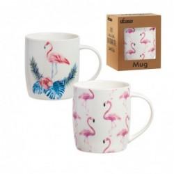 Taza Mug x2 Flamingo 10 cm