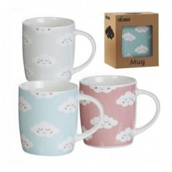 Taza Mug x3 Nubes 10 cm