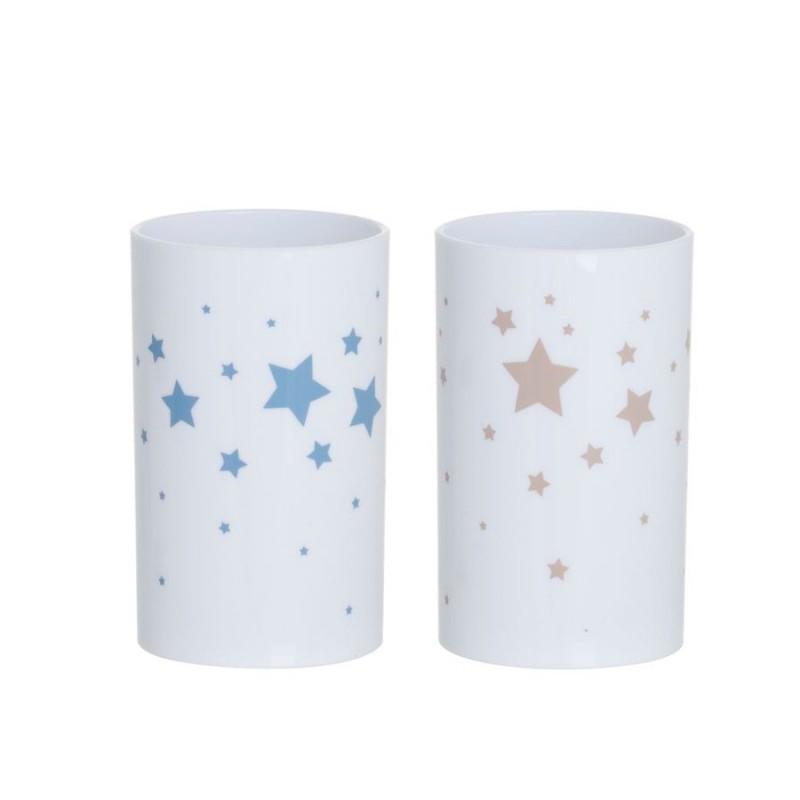 Vaso Baño x2 Estrellas 10 cm