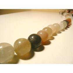 Tira de collar Adularia (Piedra Luna) 40cm bolas 12mm