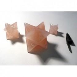 Mercabas talladas en Cuarzo Rosa. Precio 1 Kg