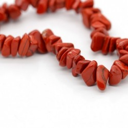 Pulsera Chip de Jaspe Rojo