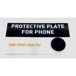 Placa adhesiva de Shungit circular protectora para telefono movil